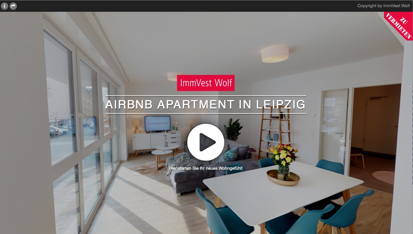 AIRbnb vermieten in Leipzig 360 Grad Tour