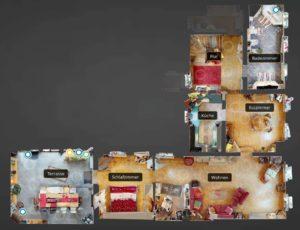 360-Grad-Besichtigung-Immobilien-Stadtvilla-mit-Luxusausstattung-Grundriss-1